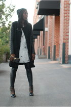 BB Dakota jacket - Forever 21 shoes - Zara dress - Reveal bag