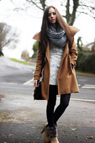 bronze wilfred coat - camel BuyTrendscom boots - white Loef dress