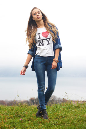 denim H&M shirt