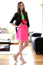 Hot-pink-inlovewithfashion-dress-beige-oasap-heels
