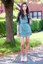turquoise blue OASAP dress - eggshell Yes Walker bag