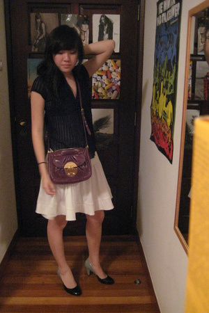 Lux blouse - Lux skirt - Miu Miu purse - PedderRed shoes