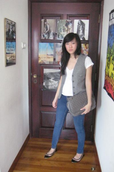 REPLAY t-shirt - Trovata vest - Topshop jeans - Topshop purse