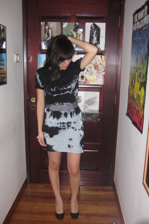 Topshop dress - no brand belt - PedderRed shoes - H&M