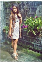 ivory beatrice wedge Gold Dot heels - beige Charlotte Russe dress