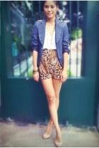 tawny high waisted peek-a-boo shorts