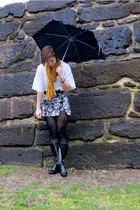 white Goodwill sweater - Express skirt - black Target boots - black American Eag