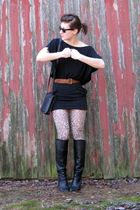 black Old Navy shirt - black wal-mart skirt - brown Goodwill belt - black Guess