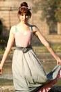 Aquamarine-hair-accessoire-ann-christine-accessories-silver-vintage-skirt