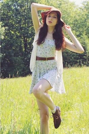 off white flower print dress