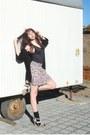Periwinkle-flower-print-new-yorker-dress-silver-unknown-brand-heels