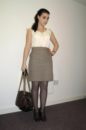 Beyond Retro skirt - Mango shirt - Office shoes - Marc Jacobs purse - heirloom n