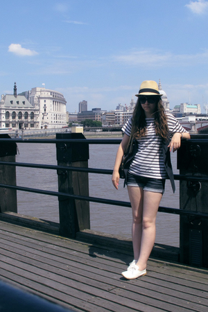 Urban Outfitters hat - Topshop vest - vintage t-shirt - Topshop shorts - Office