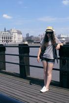 Urban Outfitters hat - Topshop vest - vintage t-shirt - Topshop shorts - Office