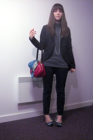 Uniqlo top - Urban Outfitters jacket - Gap jeans - Irregular Choice London shoes