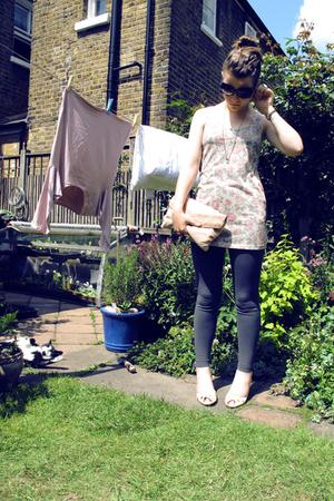 Topshop purse - Miu Miu sunglasses - Topshop vest - Urban Outfitters leggings -