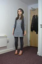 H&M hat - American Apparel dress - American Apparel pants - Office shoes - Topsh