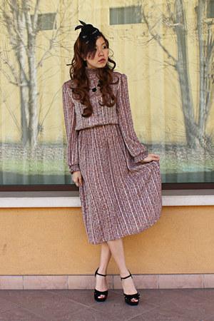 light purple Bikkuri dress - black Forever 21 heels