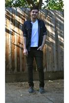 black Levis jeans - charcoal gray Toms shoes - navy H&M shirt