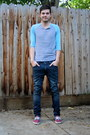Maroon-vans-shoes-navy-levis-jeans-heather-gray-urban-outfitters-shirt