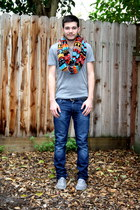 heather gray Urban Outfitters t-shirt - heather gray Zara shoes