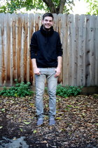 black H&M hoodie - charcoal gray Toms shoes - heather gray Levis jeans