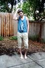 Beige-straw-urban-outfitters-hat-camel-zara-men-pants-teal-top