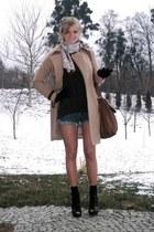 black asos boots - light brown H&M coat - dark brown Vero Moda sweater - brown M