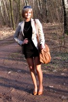 black Orsay dress - beige Mango blazer - brown Mango bag - brown reserved heels