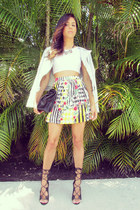 Love Culture skirt - Zara jacket - Zara bag - lenny sandals Shoedazzle heels