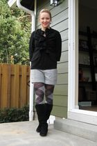 black Anthropologie jacket - gray Anthropologie shorts - black H&M top - gray So