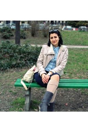 New Yorker bag - Stradivarius pants - Miss Sixty watch