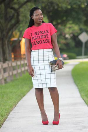 windowpane Express skirt