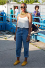 Levis-jeans-super-sunglasses-crop-top-topshop-top-vintage-necklace