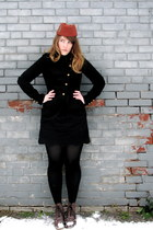 tawny vintage hat - black RW & CO blazer - black Urban Outfitters skirt - brown