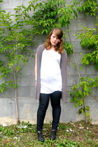 silver rw &co sweater - Joe Fresh jeans - black Aldo shoes - thrifted earrings -