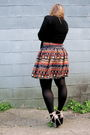 Orange-primark-skirt-black-hue-tights-black-urban-planet-sweater-black-joe