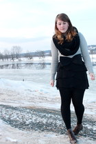 Mexx skirt - RW & CO sweater - Joe Fresh scarf - Zara boots - H&M belt