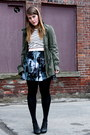 Army-green-urban-planet-jacket-joe-fresh-sweater-black-hue-tights-bb-dakot
