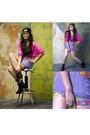Terra-nova-top-skirt-paperbag-vintage-shorts-bought-online-necklace-char