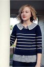 Jegging-ag-jeans-striped-h-m-sweater-pinstripe-dear-creatures-blouse-messe