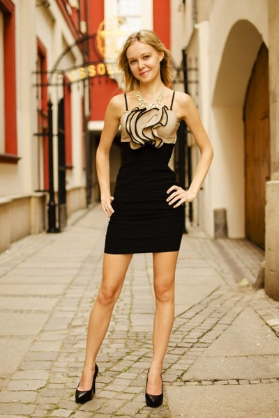 black Tally Weijl dress - black Deichmann heels