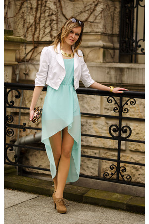 light blue Sheinsidecom dress - white Atmosphere jacket