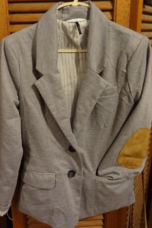 check and stripes blazer