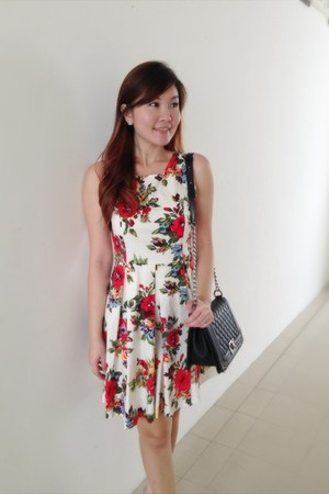 floralflare Kristines Collection dress - Kristines Collection bag