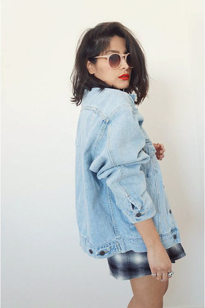 denimoversized vintage jacket - plaid Somedays Lovin shorts