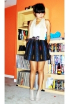 alloy skirt - vintage belt - WEWHOSEE shoes - BDG top