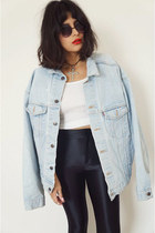 denimoversized Levis jacket - disco pants American Apparel pants