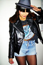 Guess jacket - vintage shorts - Forever 21 t-shirt