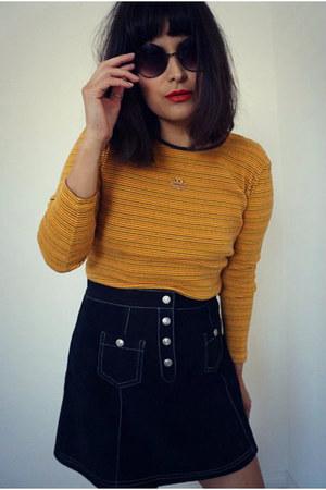 suede vintage skirt